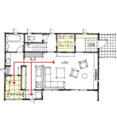 帰ると玄関近くで着替えのできる家 Happy House, Japanese House, House Floor Plans, Layout, Exterior, Flooring, How To Plan, Room, Home Decor