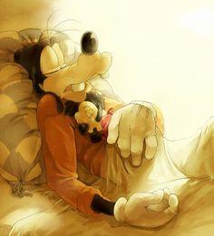 Goofy & baby Max