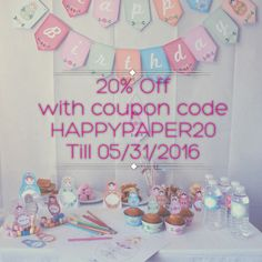 20% OFF on the shop with coupon code HAPPYPAPER20 -> 05/31/16
