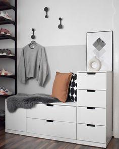 Bedroom Wall Designs, Home Decor Bedroom, Ikea Nordli, Happy New Home, Aesthetic Room Decor, Home Room Design, My New Room, Home Staging, Room Inspiration