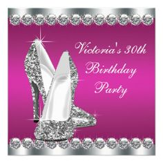 Womans Hot Pink 30th Birthday Party Personalized Invite in each seller  make purchase online for cheap. Choose the best price and best promotion as you thing Secure Checkout you can trust Buy bestThis Deals          	Womans Hot Pink 30th Birthday Party Personalized Invite please foll...