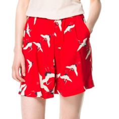 Zara shorts Red shorts Zara Shorts