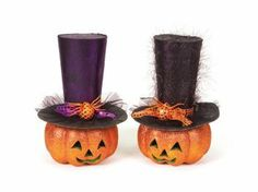 2 Halloween Decorations by Gordon Companies, Inc. $106.50. Shipping Weight: 2.00 lbs. Brand Name: Gordon Companies, Inc Mfg#: 30690425. This product may be prohibited inbound shipment to your destination.. Picture may wrongfully represent. Please read title and description thoroughly.. Please refer to SKU# ATR25769002 when you inquire.. 2 Halloween decorations/pumpkins/hats are removable/16''H/made of PVC and styrofoam/you get 1 pumpkin of each style