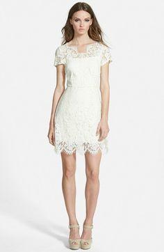 Lucy Paris 'Lisbon' Lace Sheath Dress, white short lace dress http://www.shopstyle.com/action/loadRetailerProductPage?id=472399133&pid=uid7609-25959603-56