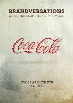 Brandversations: um projeto sobre marcas rivais - Coca-Cola vs. Pepsi | by: Stefan Asafti - Designerd #logo #branding