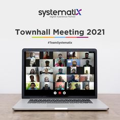 One of Systematix's ways of keeping the team spirit high, so together, we can achieve sustainable development goals. With this townhall, we get the chance to - realigning ourselves as a team - getting everyone on board to share company updates, and - celebrating our team achievements. Many thanks to everyone for the great work and resilience in 2020. Let's aim to grow better together, and make 2021 an immense success! We hope in the next meeting - we will see you all offline. Sustainable Development, Better Together, Town Hall, A Team, Thankful, Spirit, Success, Goals, In This Moment