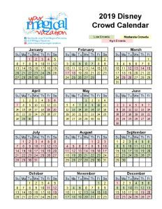 So you've decided to take a trip to Walt Disney World.  Now you need to decide on when!  I've come up with some easy to view Disney World crowd calendar charts that I use when talking to my guests.