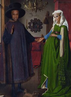 Jay-Z + Beyonce in The Arnolfini Portrait . via The Carter Family Portrait Gallery