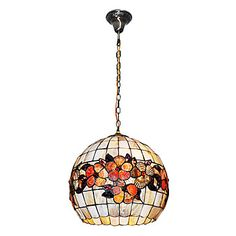 Vintage Tiffany Pendant Lamp with Flowers. Perfect to give a cozy feel to the kitchen. #glass