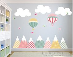 48 Ideas Baby Nursery Wall Stickers Decals For 2019 Wall Mural Decals, Wall Decals For Bedroom, Nursery Wall Stickers, Wall Stickers For Kids, Wall Art, Vinyl Decals, Bird Wallpaper Bedroom, City Wallpaper, Tree Wallpaper