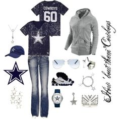 """Dallas Cowboys"" by marie-jenson on Polyvore"