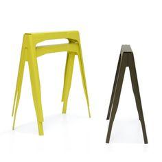 Y Trestles + Plates Tolix/ design by Normal Studio - Balcony Desk Dining Room Table Legs, Metal Table Legs, Table Furniture, Furniture Design, Saw Horse Table, Style Loft, Trestle Table, Trestle Legs, Design Bestseller