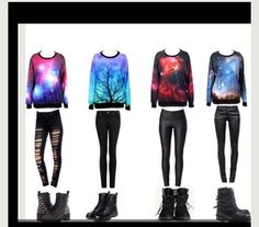 Galaxy outfits