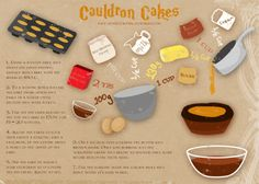 Master Hayden's Cauldron Cakes Recipe: For experienced bakers the recipe card will tell you everything, but here are some tricks for you novices as well as my reasoning behind this treat. Why use a pie shell? Because it looks cauldron-like and adds a...