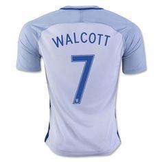 fdf805420 England Euro 2016 Home Men Soccer Jersey WALCOTT  7. England Euro 2016European  CupJersey ShortsSoccer JerseysThailandFootball ShirtsFootball Jerseys