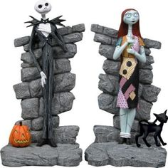 Nightmare Before Christmas Disney Jack & Sally Bookends