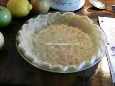 Easy 10 minute crust you make in pie plate.  No rolling.