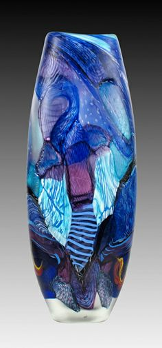 "*Art Glass - ""Forecaster Kingfisher"" by Neal Hart"