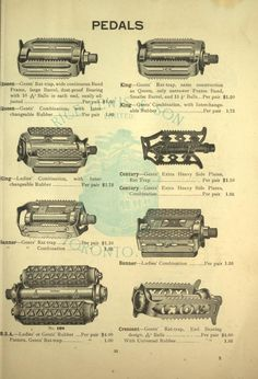 Bicycle accessories : 1900 [catalogue