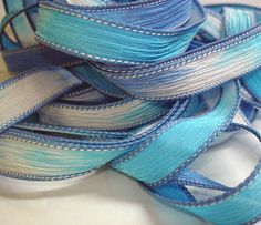 Nautical 42 inch silk ribbon By Color Kissed by ColorKissedSingles, $3.00