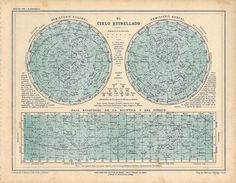 1929 Vintage Star Chart  Celestial Map  Constellations by carambas, $30.00