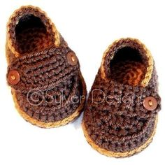 Little Button Loafers crochet pattern by sylver on Etsy, $5.95