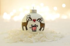Pregnant/Expecting Ornament  Reindeer by TwentyTwoTurtledoves, $25.00