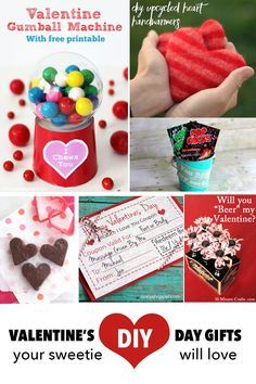 Save some money this year and show your loved one how much you care with one of these adorable DIY Valentine' Gift ideas!