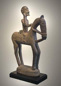 Dogon equestrian figure, Mali, 20th century (wood)