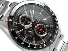 SEIKO Chronograph Superior Herren Uhr SNDB73P1 Black Dial 100m  #seiko #wristwatch #chronograph #sndb #black #tachymeter #quartz