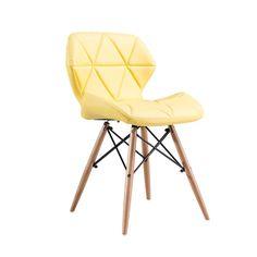 Hamdeko  Eames Sandalye Çapraz Deri Sarı 149,99 TL