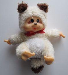 "1979 Vintage Russ Berrie SPIFFY 7"" Plush Fur Stuffed RACCOON Thumb Sucking Doll #RussBerrie"