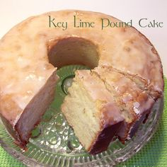 Key Lime Pound Cake I was not as taken with this as many others are. Perhaps I prefer my key lime flavor in pie? Lime Recipes, Sweet Recipes, Delicious Desserts, Dessert Recipes, Yummy Food, Salad Recipes, Food Cakes, Cupcake Cakes, Bundt Cakes