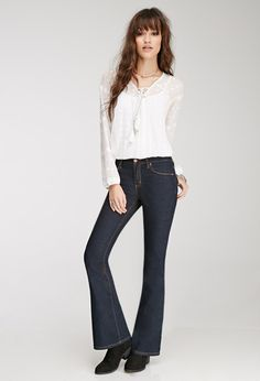 Pin for Later: 11 Reasons to Trade In Your Skinny Jeans ASAP! Forever 21 Flared Jeans Forever 21 Classic Flared Jeans (£12)