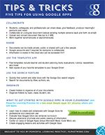 Download and print a copy of Google Apps for Education: Tips & Tricks