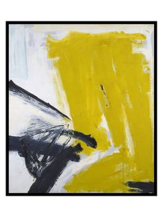 Zinc Yellow, 1959 by Franz Kline (Framed) by 1000Museums at Gilt