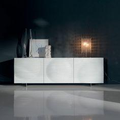 Cattelan Italia - Contenitore Luna | Design: Andrea Lucatello | Materiali: Laccato | #design #arredamento #interiordesign #homedecor #internicasa #bianco #white |