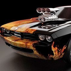 Colorful Pictures Of Muscle Cars Automotive Art Car Pictures Car