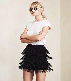 Reformation Llama Skirt ($178) in Black