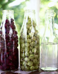Oletko kuullut vesikarviaisista? Jännä säilöntätapa takaa tuoreet marjat talveksi | Me Naiset Pula, Preserves, Glass Vase, Fancy, Bottle, Decor, Food, Preserve, Decoration