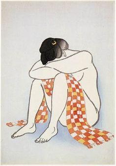 Yamamura Toyonari - Woman With Scarf 1924