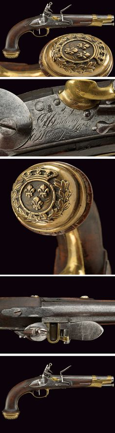 A Gard du Corps flintlock pistol:    provenance:	 	France dating:	 	first quarter of the 19th Century