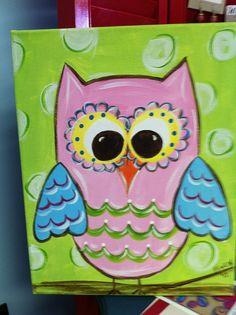 My Art Party  Owl Kit for 12 painters by MyArtParty on Etsy, $169.00