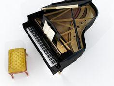 grand piano 3d max
