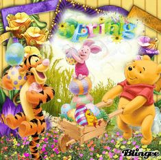 Pooh Spring Easter