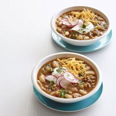 The addition of pumpkin and warming cinnamon makes this hearty turkey chili perfect for winter! Get the recipe here.