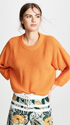 Buy I Love Mr Mittens Cropped Crew Neck Pullover online - Chicideas I Love Mr Mittens, Ulla Johnson, Cable Knit, Crew Neck, Dresses With Sleeves, Pullover, My Style, Long Sleeve, Clothes