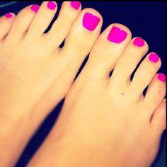 Bright toes even in winter. love it!