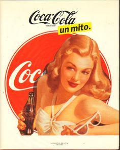 E' una pubblicità di un poster Coca Cola, marchio fortissimo che ormai esiste da più di 100 anni. L'ho trovata sul sito arteneisensi.it. Mi piace perché richiama l'immagine della donna negli anni 80, secondo me, con in mano una coca cola che è la bevanda che tiene in mano.