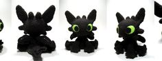 Here is my free pattern for my Toothless amigurumi -- while I designed and created everything in this photo, the instructions for the wings...
